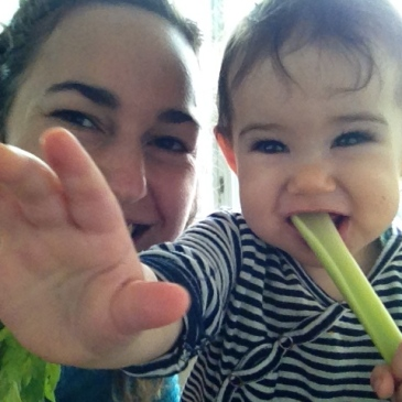 eating celery